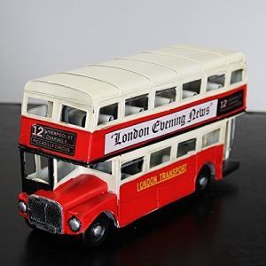 【アンティーク調】ブリキトイ クラシックカー [ロンドンバス]LONDON BUS 2トーン赤/白|threestone