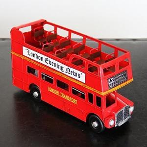 【アンティーク調】ブリキトイ クラシックカー [ロンドンバス]LONDON BUS オープントップバス|threestone