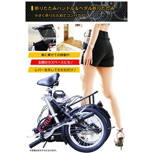 フル電動自転車 E-RUNs2 モペットタイプ 16インチ 折りたたみ自転車 ディスクブレーキ フル電動 アシスト走行/ペダル走行/フル電動走行 E-runs2 threestone 10