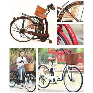 電動アシスト自転車 26インチ シマノ内装3段ギア 型式認定車両 PASTEL 電動自転車 【代引き注文不可】|threestone|04