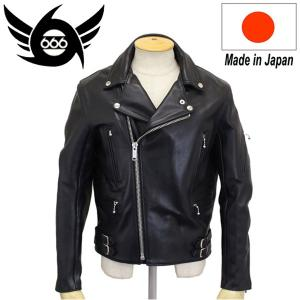 666 LJM-4 U.K.HARDCORE RIDERS JACKET (U.K. ハードコア ライダースジャケット) 日本製 BLACK|threewoodjapan