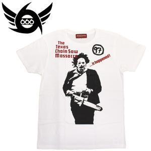 666 MY WAY MAN T-Shirt (マイウェイマンTシャツ) テキサスチェインソー ホワイト MYT004 threewoodjapan