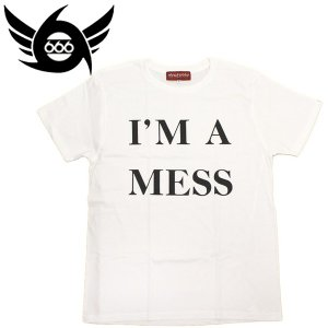666 MY WAY MAN T-Shirt (マイウェイマンTシャツ) I'M A MESS ホワイト MYT006 threewoodjapan