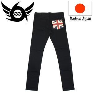 666 ORIGINAL UNION JACK Slim Jeans (ユニオンジャックスリムジーンズ) ブラック SOP057 threewoodjapan