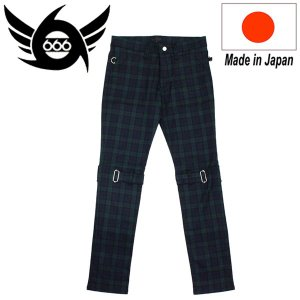 666 ORIGINAL Stretch Bondage Slim Jeans (ストレッチボンデッジスリムジーンズ) ダークグリーンタータン SOP106 threewoodjapan