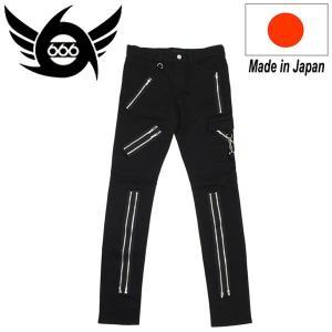 666 ORIGINAL Stretch Zip Trousers (ストレッチジップトラウザーズ) ブラック SOP155 threewoodjapan