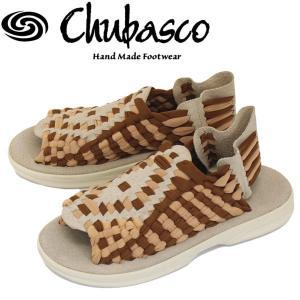 Chubasco (チュバスコ) AZ16018P AZTEC SANDAL (アズテックサンダル) ベージュ/コーヒー/ベージュ|threewoodjapan