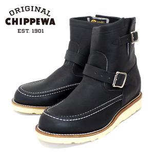 CHIPPEWA チペワ 1901M07 7inch HIGHLANDER BOOTS 7インチ ハイランダー モックトゥ エンジニアブーツ BLACK ODESSA|threewoodjapan