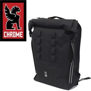 CHROME (クローム クロム) BG218 URBAN EX ROLLTOP28V2 (アーバン ロールトップ バックパック デイバッグ) BLACK/BLACK CH102|threewoodjapan