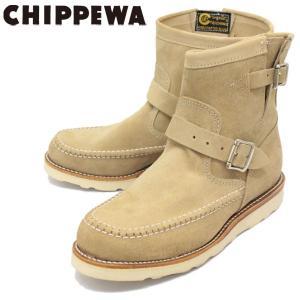 CHIPPEWA (チペワ) 1901G09 7inch SUEDE HIGHLANDER BOOTS 7インチ モックトゥ スウェードハイランダーブーツ KHAKI 保証書付|threewoodjapan