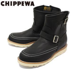 CHIPPEWA (チペワ) 1901M07 7inch HIGHLANDER BOOTS 7インチ モックトゥ ハイランダーブーツ BLACK 保証書付|threewoodjapan