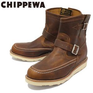 CHIPPEWA (チペワ) 1901M08 7inch HIGHLANDER BOOTS 7インチ モックトゥ ハイランダーブーツ TAN 保証書付|threewoodjapan