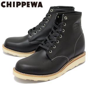 CHIPPEWA (チペワ) 1901M15 6inch SPORT BOOTS 6インチ プレーントゥ スポーツブーツ BLACK 保証書付|threewoodjapan
