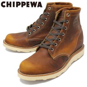 CHIPPEWA (チペワ) 1901M17 6inch SPORT BOOTS 6インチ プレーントゥ スポーツブーツ TAN 保証書付|threewoodjapan