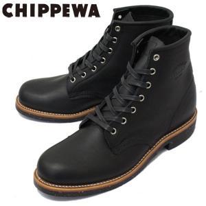 CHIPPEWA (チペワ) 1901M24 6inch UTILITY BOOTS 6インチ プレーントゥ ユーティリティブーツ MAT BLACK 保証書付|threewoodjapan