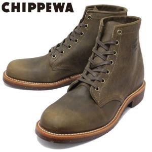 CHIPPEWA (チペワ) 1901M29 6inch SUEDE UTILITY BOOTS 6インチ プレーントゥ スエードユーティリティブーツ CRAZY HORSE 保証書付|threewoodjapan