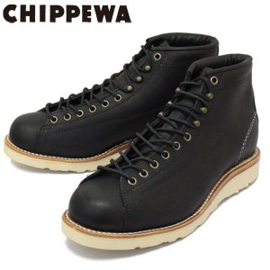 CHIPPEWA (チペワ) 1901M34 5inch BRIDGEMEN 5インチ ブリッジマン レーストゥトゥブーツ BLACK 保証書付|threewoodjapan