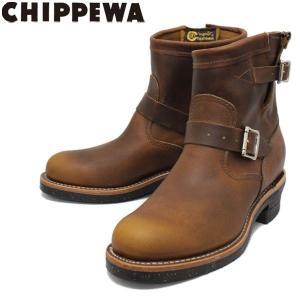 CHIPPEWA (チペワ) 1901M53 7inch ORIGINAL ENGINEER BOOTS 7インチ プレーントゥ エンジニアブーツ TAN 保証書付|threewoodjapan