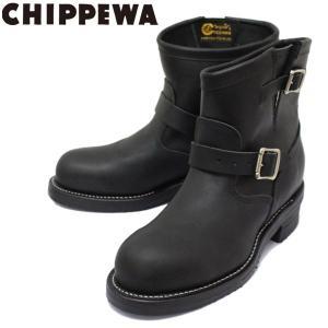 CHIPPEWA (チペワ) 1901M58 7inch ORIGINAL STEEL TOE ENGINEER BOOTS 7インチ スチールトゥ エンジニアブーツ MAT BLACK 保証書付|threewoodjapan