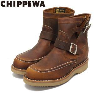 CHIPPEWA (チペワ) 1901W08 Women's 7inch Highlanders(7インチハイランダーズ モックトゥ・ショートエンジニアブーツ) レディース Tan 保証書付|threewoodjapan