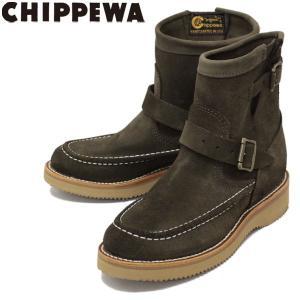CHIPPEWA (チペワ) 1901W10 Women's 7inch Highlanders(7インチハイランダーズ モックトゥ・ショートエンジニアブーツ) レディース Chocolate Moss 保証書付|threewoodjapan