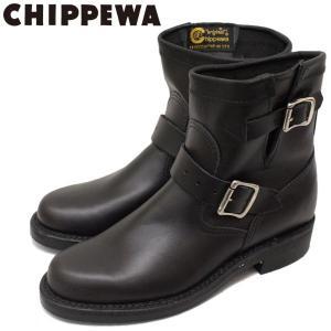 CHIPPEWA (チペワ) 1901W11 Women's 7inch Original Engineer(7インチオリジナルプレーントゥ・エンジニアーブーツ) レディース Black 保証書付|threewoodjapan