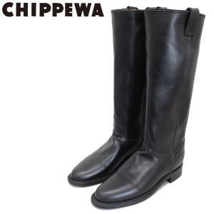 CHIPPEWA (チペワ) 1901W64 Women's 15inch Roper(15インチローパー プレーントゥ・ロングエンジニアブーツ) レディース Black 保証書付 threewoodjapan