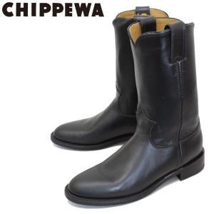 CHIPPEWA (チペワ) 1901W67 Women's 10inch Roper(10インチローパー プレーントゥ・エンジニアブーツ) レディース Black 保証書付 threewoodjapan