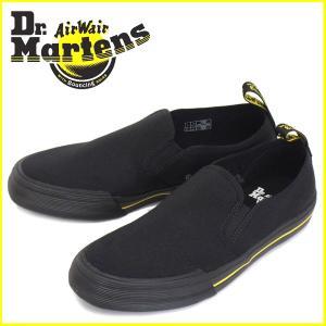 Dr.Martens (ドクターマーチン) TOOMEY (トゥーミー) 10 oz キャンバス スリップオン シューズ Black|threewoodjapan