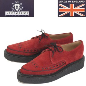 GEORGE COX (ジョージコックス) 3705 GIBSON MG V-SOLE ギブソン ファイブソール シューズ 34-RED/SUEDE|threewoodjapan
