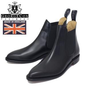 George Cox (ジョージコックス) 3880 CHELSEA BOOT (サイドゴア チェルシーブーツ) ブラックレザー GCY001|threewoodjapan
