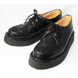 George Cox(ジョージコックス) ラバーソール 3588 VI-sole ブラックレザー 黒革|threewoodjapan
