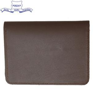 HERITAGE LEATHER CO.(ヘリテージレザー) NO.7925 Passport Case (パスポートケース) Brown HL194|threewoodjapan