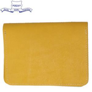 HERITAGE LEATHER CO.(ヘリテージレザー) NO.7925 Passport Case (パスポートケース) Yellow HL195|threewoodjapan
