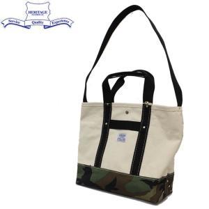HERITAGE LEATHER CO.(ヘリテージレザー) NO.8093 POP Tote Bag (トートバッグ) Natural/Woodland Camo HL184|threewoodjapan
