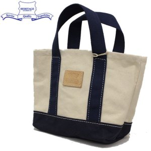 HERITAGE LEATHER CO.(ヘリテージレザー) NO.8309 Lunch Bag (ランチバッグ) Natural/Navy HL186|threewoodjapan