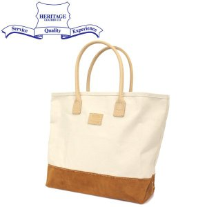 HERITAGE LEATHER CO.(ヘリテージレザー) NO.8662 Suede Bottom Tote Bag (トートバッグ) Natural/Brown HL206|threewoodjapan