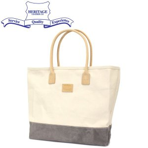 HERITAGE LEATHER CO.(ヘリテージレザー) NO.8662 Suede Bottom Tote Bag (トートバッグ) Natural/Grey HL207|threewoodjapan