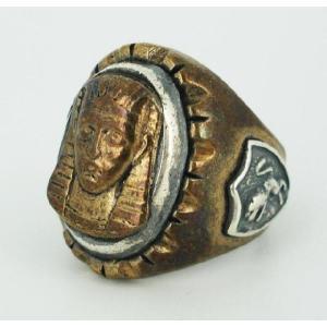 sale セール HTC(Hollywood Trading Company) Mexican Ring(メキシカンリング) PHARAOH(ファラオ) Bronze Oval Body(ブロンズオーバルボディー) threewoodjapan