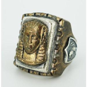 sale セール HTC(Hollywood Trading Company) Mexican Ring(メキシカンリング) PHARAOH(ファラオ) Bronze Square Body(ブロンズスクエアーボディー) threewoodjapan