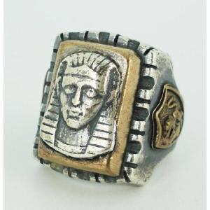sale セール HTC(Hollywood Trading Company) Mexican Ring(メキシカンリング) PHARAOH(ファラオ) Silver Square Body(シルバースクエアーボディー) threewoodjapan
