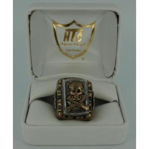 sale セール HTC(Hollywood Trading Company) #MR-SBS Mexican Ring(メキシカンリング)SKULL(スカル) Bronze Square Body(ブロンズクエアーボディー) threewoodjapan