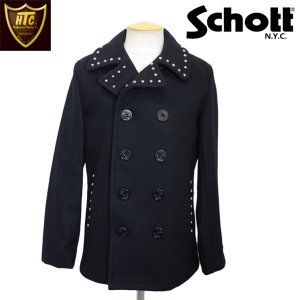 HTC(Hollywood Trading Company)xSCHOTT(ショット) 753US PEA COAT UMBRELLA STUDS(ピーコート アンブレラスタッズ) NAVY|threewoodjapan
