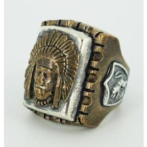 sale セール HTC(Hollywood Trading Company) Mexican Ring(メキシカンリング) INDIAN HEAD 2(インディアンヘッド2) Bronze Square Body threewoodjapan