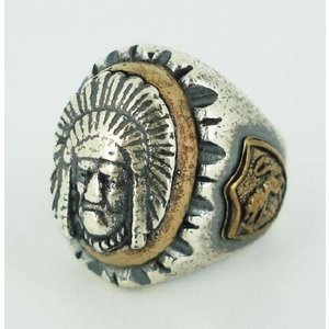 sale セール HTC(Hollywood Trading Company) Mexican Ring(メキシカンリング) Indian Head2(インディアンヘッド2) Silver Oval Body threewoodjapan