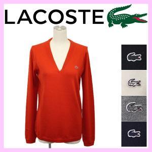LACOSTE (ラコステ) AF249E Sweaters ウール Vネック ニット (長袖) 全5色 レディース LC083 threewoodjapan