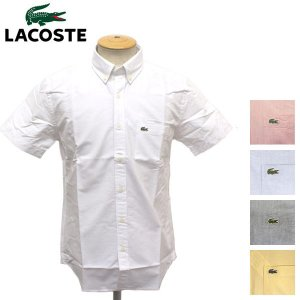 LACOSTE (ラコステ) CH474E WOVEN SHIRTS BASIC (コットン オックスフォードシャツ) 半袖 全5色 LC077 threewoodjapan