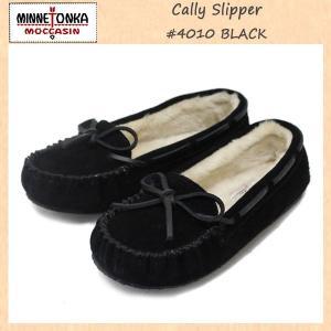 MINNETONKA(ミネトンカ) Cally Slipper(キャリースリッパ) #4010 BLACK レディース MT261