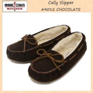 MINNETONKA(ミネトンカ) Cally Slipper(キャリースリッパ) #4012 CHOCOLATE レディース MT263