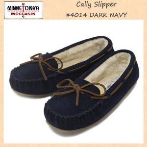 MINNETONKA(ミネトンカ) Cally Slipper(キャリースリッパ) #4014 DARK NAVY レディース MT264